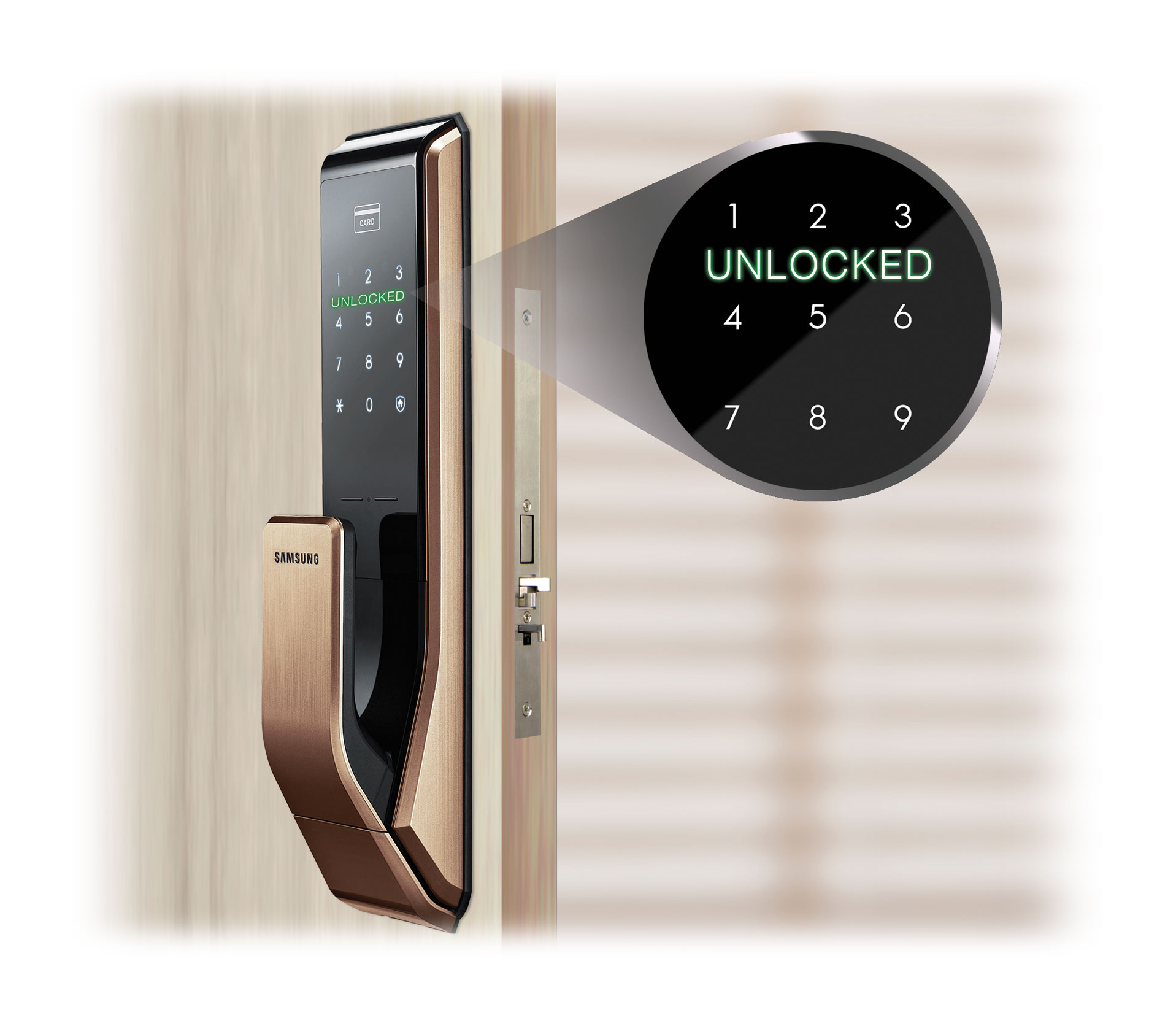 RFID Door Locks | Cenmetrix | Samsung Push Pull Door Lock